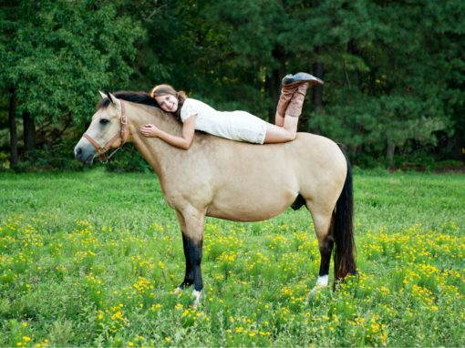 Senior Portrait with Horse – Elizabeth