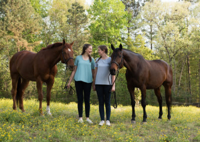 Equine-Senior-Sisters-Photography-NC-27