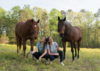 Equine-Senior-Sisters-Photography-NC-33