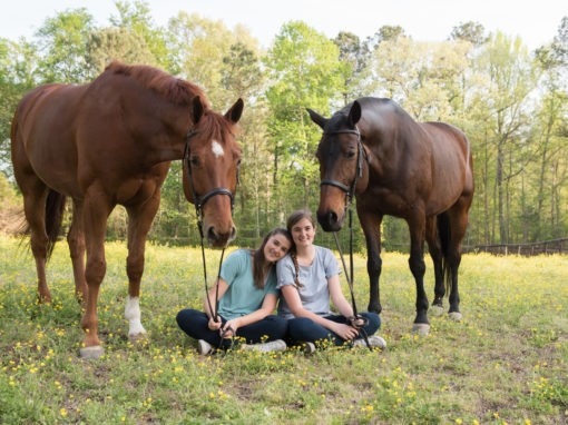 Horse Senior Pictures and Sisters